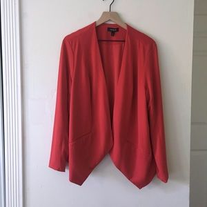 Torrid Red open light blazer jacket size 2